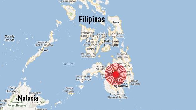 Registran un terremoto de magnitud 5,6 en Filipinas
