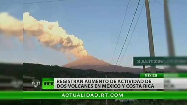 Volcanes calientan los cielos de México y Costa Rica
