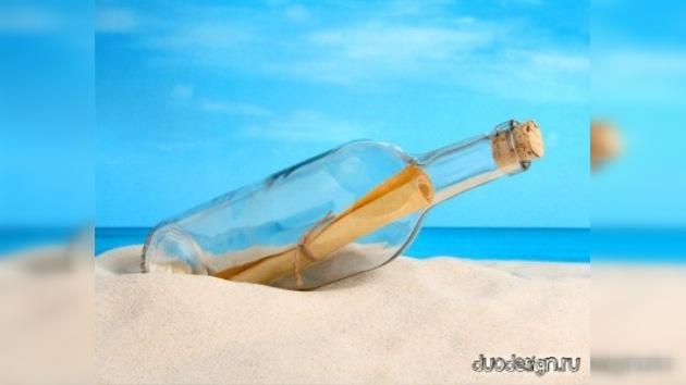 Un australiano descubre un mensaje en una botella que llegó desde China