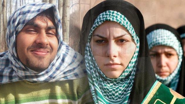 Fotos: ¿Para qué publican estos hombres iraníes sus 'selfies' con el 'hiyab' puesto?