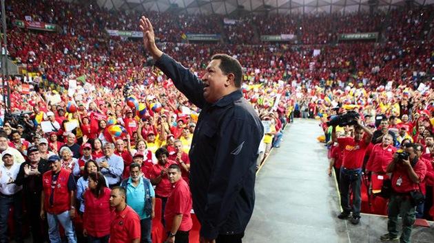 Chávez: Una derrota de la revolución bolivariana sería una derrota para el mundo