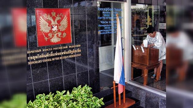Los rusos en el extranjero aportan su voz para elegir presidente