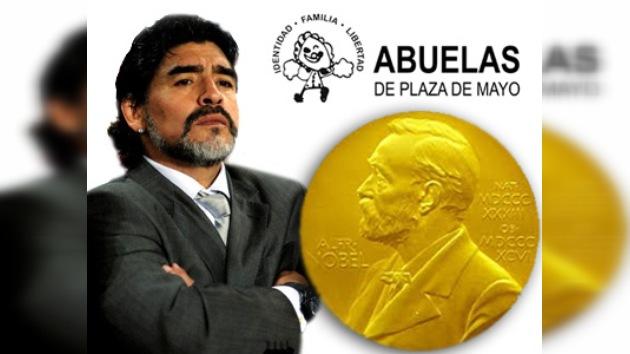 Maradona pide el premio Nobel para las Abuelas de la Plaza de Mayo