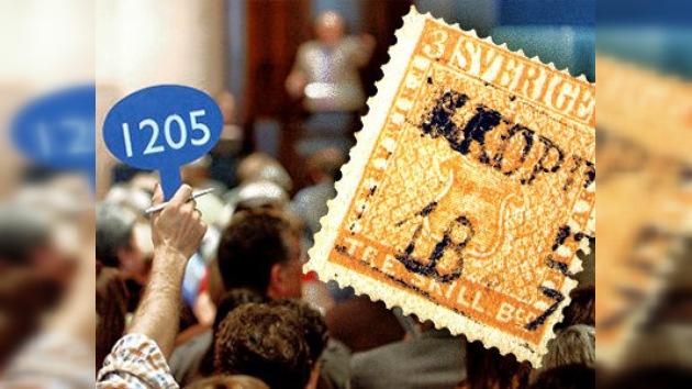 Subastan en Ginebra el sello postal más caro del mundo
