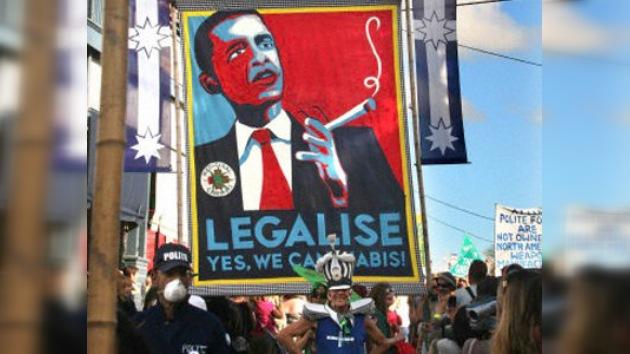 En Australia reciben a Obama con un 'porro gigante'