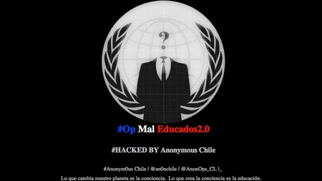 Anonymous ataca el portal de la legación hondureña en Chile