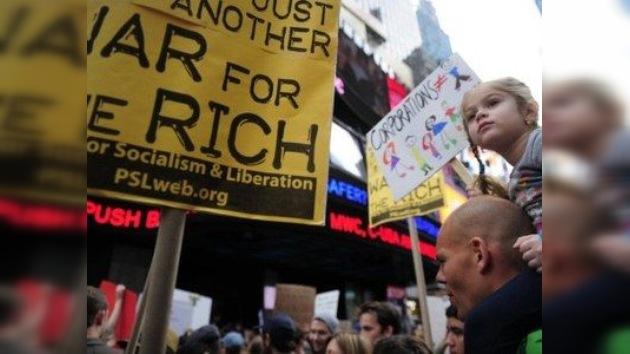 Una cuarta parte de los estadounidenses respaldan a Ocupa Wall Street