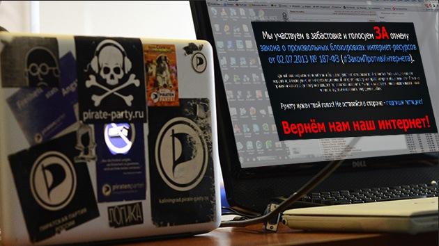 Más de 1.700 páginas web rusas se sumaron a la protesta contra la nueva ley antipiratería