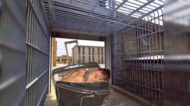 Un reo mexicano intenta huir de prisión escondido en una maleta