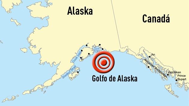 Sismo de 6,4 grados sacude el Golfo de Alaska
