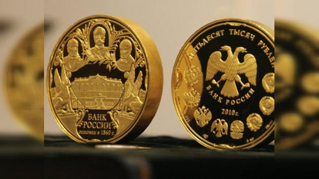 Rusia acuña una nueva moneda 'gigante' de cinco kilogramos de oro