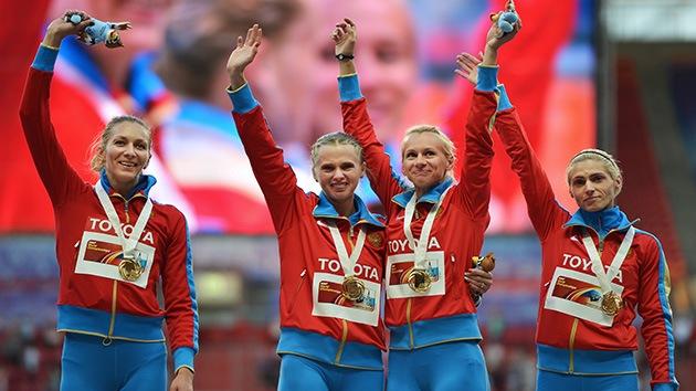 Rusia finaliza en lo más alto del medallero del Mundial de Atletismo de Moscú