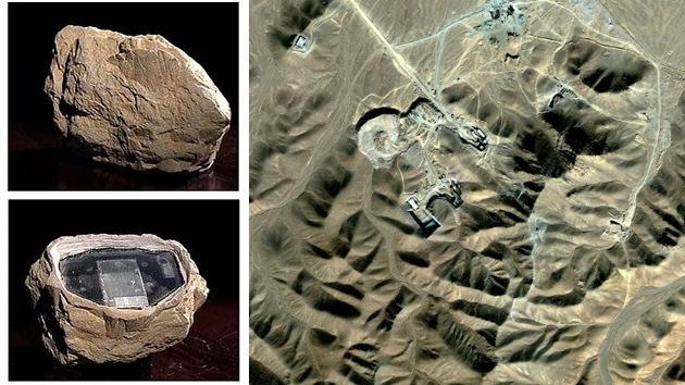 Encuentran una 'piedra espía' cerca de una planta nuclear iraní