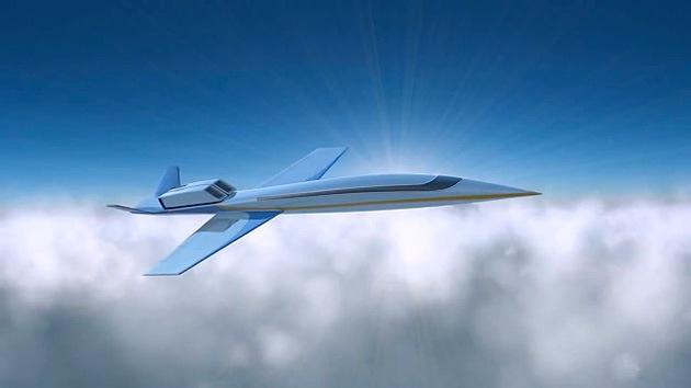 Jet Privato Supersonico : Video un nuevo avión comercial supersónico que despegará
