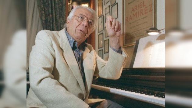 Internado en hospital el famoso compositor Ariel Ramírez