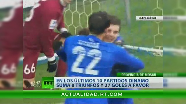 Dinamo se impone a Rubín por 3 a 0 en la Liga  Premier Rusa