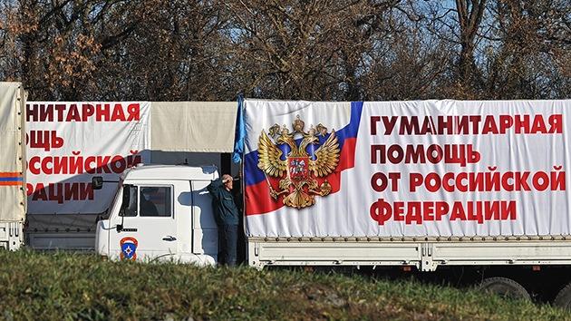 El cuarto convoy ruso con ayuda humanitaria llega a Donbass