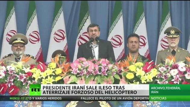 El helicóptero de Ahmadineyad realiza un aterrizaje de emergencia en Irán