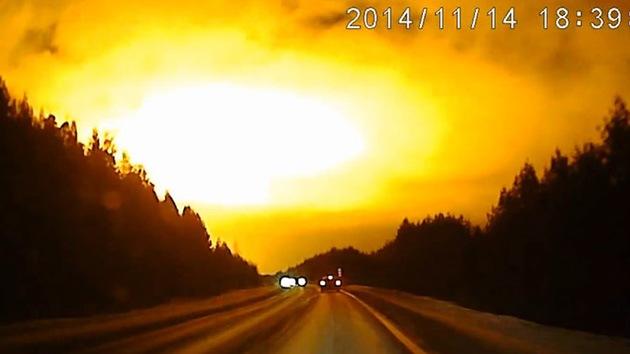 ¿El segundo meteorito en los Urales? Enorme destello misterioso pudo ser un bólido