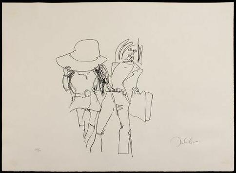 Subastan unos dibujos de John Lennon con escenas de sexo explícito