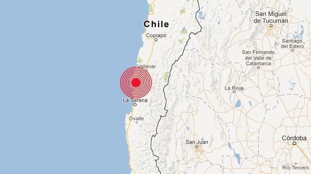 Sismo de 6,3 grados estremece varias regiones de Chile