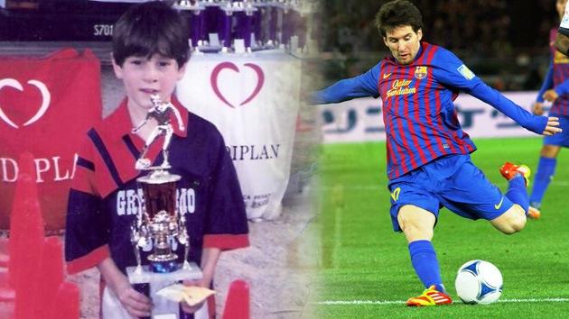 VIDEO: Messi ya marcaba golazos a los 8 años