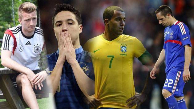'Selfies' con el 'hincha maldito' dejan sin Mundial a Ribéry, Reus, Nasri y Moura