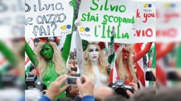 Las activistas ucranianas se desnudan ahora contra Berlusconi