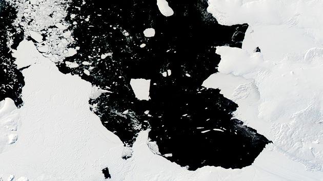 Video: Un enorme iceberg del tamaño de Singapur amenaza a los barcos en la Antártida