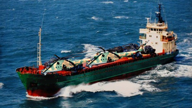 La Armada rusa escoltará un barco cargado con helicópteros de combate para Siria