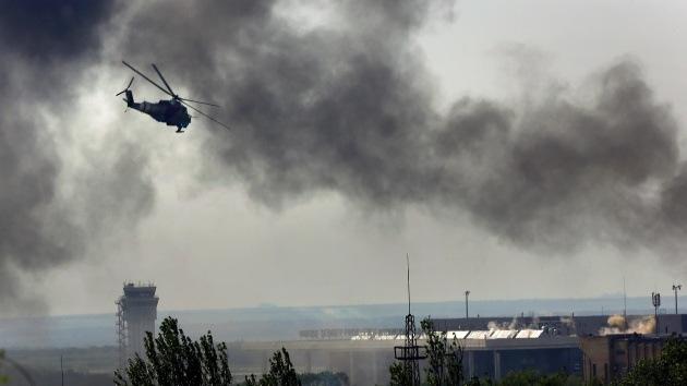 Ucrania reincide en el uso de un helicóptero con anagrama de la ONU en su operativo