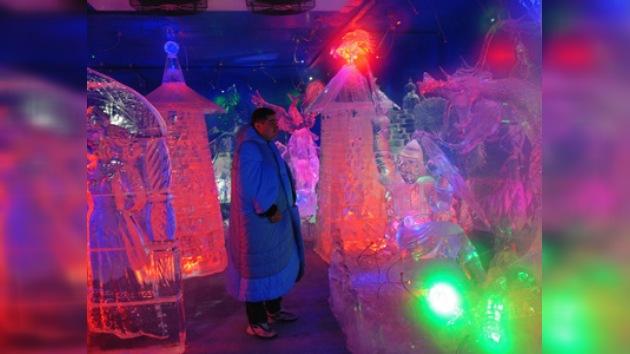 Durante el invierno se recrea en Rusia un mundo helado de cuento de hadas