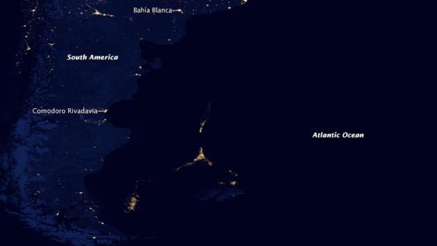 La NASA revela el misterio de las luces en el Atlántico lejos de la civilización