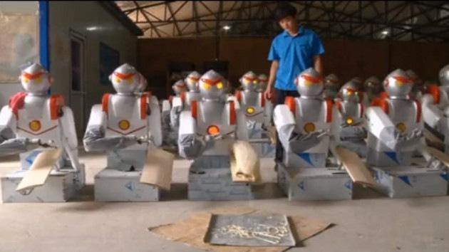 Los robots ganan terreno a los humanos en la industria de China