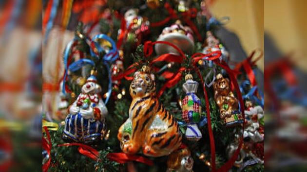 Exhibición en Moscú de adornos navideños de la Gran Guerra