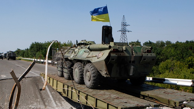 """Cancillería rusa: """"Ucrania desplaza lanzamisiles a las afueras de Donetsk"""""""