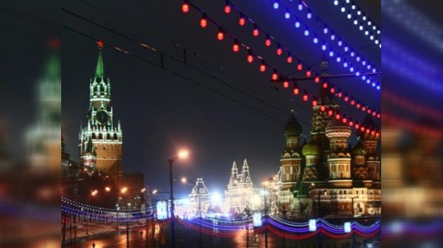 Unos 120.000 moscovitas fueron a la Plaza Roja para celebrar el Año Nuevo