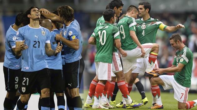 Uruguay y México ya tienen un pie y medio en el Mundial de Brasil