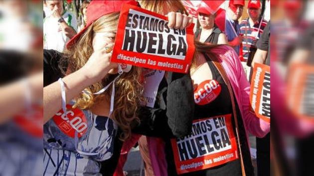 Protestas masivas contra medidas anticrisis en España
