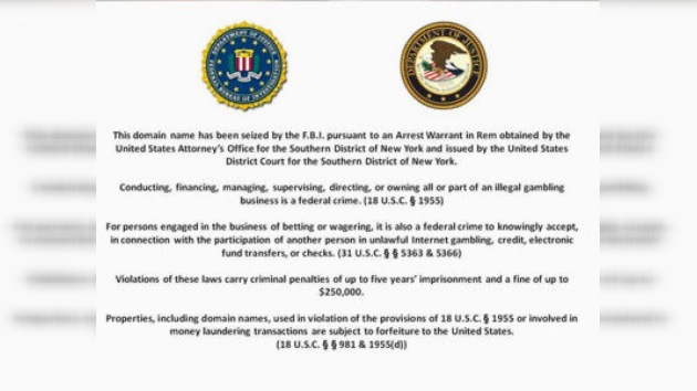 El FBI se apodera de las páginas web de PokerStars, Full Tilt Poker y Absolute Poker