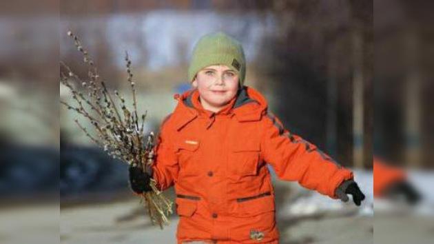 Los católicos de Rusia celebran el Domingo de Ramos