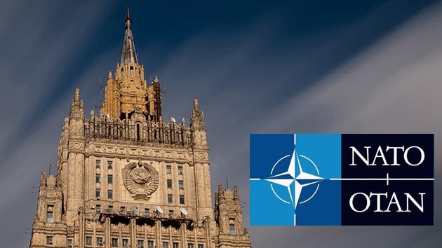 """Cancillería rusa: """"La OTAN no puede cambiar su código genético"""""""