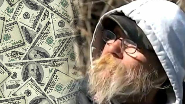 Vagabundo de EE.UU. gana 50.000 dólares y se queda en la calle
