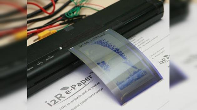 Científicos crean un papel electrónico de uso múltiple