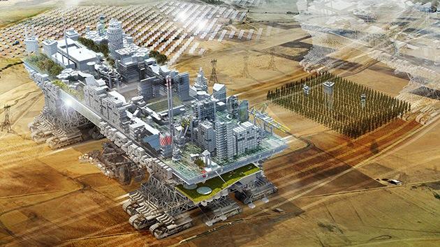 """Fotos: Diseñan una ciudad móvil como opción para """"escenarios apocalípticos"""""""