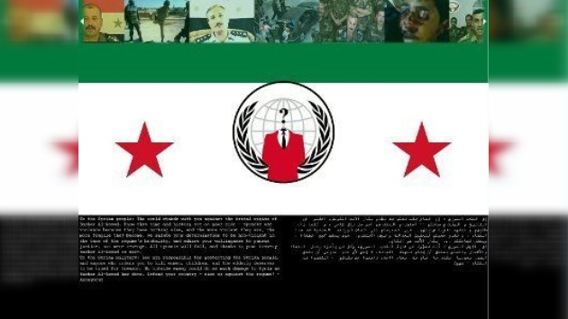 Anonymous llamó a los sirios a la lucha a través del portal de su Ministerio de Defensa