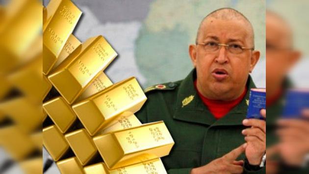 Hugo Chávez sacará 99 toneladas de oro de bancos ingleses