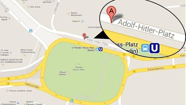 Google nombra por error una plaza de Berlín en honor a Adolf Hitler