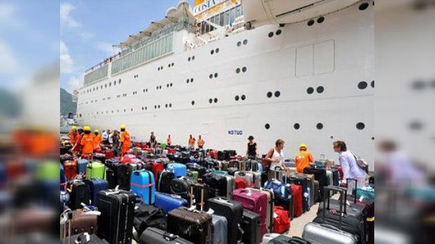 El crucero Costa Allegra atracó en un puerto de las islas Seychelles