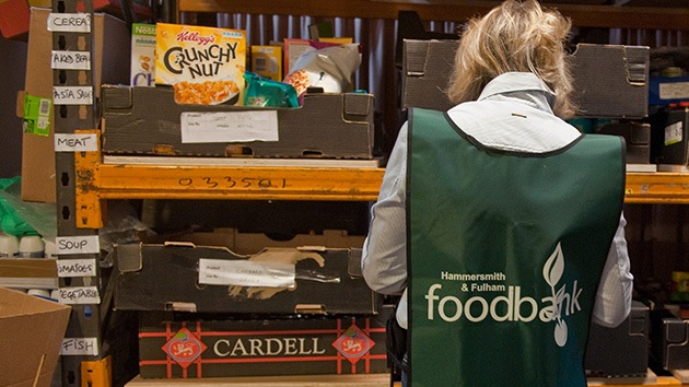 Un millón de británicos acudirá a los bancos de alimentos el próximo año